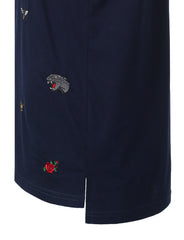 NAVY Embroidered Short Sleeve T-shirt - URBANCREWS