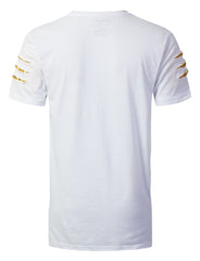 WHITE Embroidered Short Sleeve T-shirt - URBANCREWS
