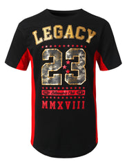 BLACKRED Legacy 23 Printed T-shirt - URBANCREWS