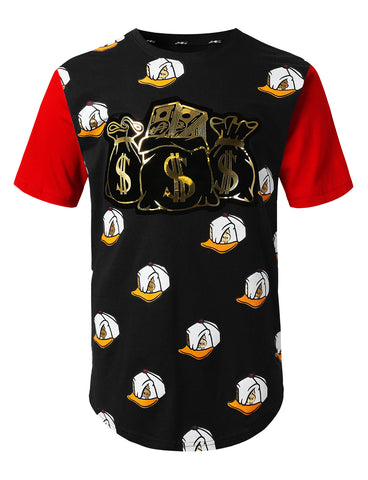 Allover Duck Printed Longline T-shirt