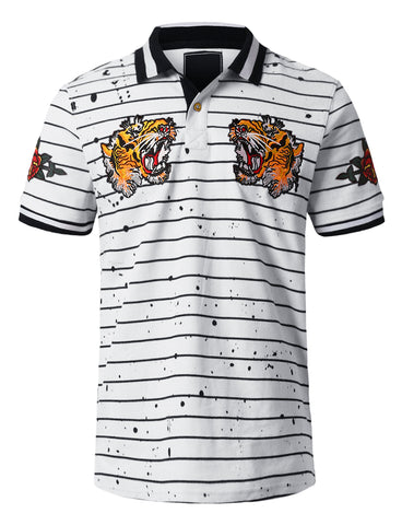 Tiger Yarn Dyed Pique Polo T-shirt