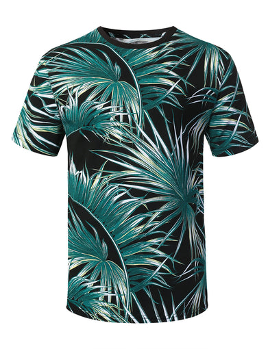Palm Tree Printed Knit T-shirt