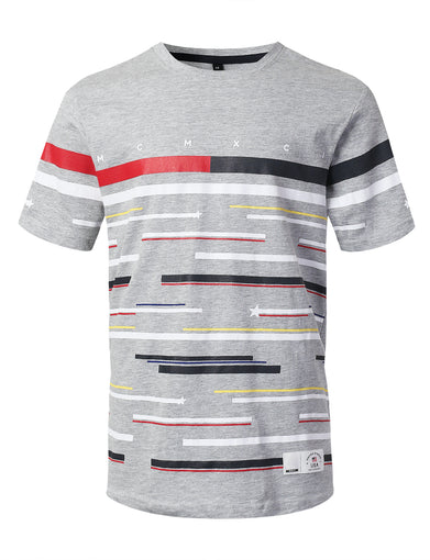 Engineer Print Striped T-shirt