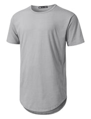 HGRAY Basic Poly Cotton Longline T-shirt - URBANCREWS