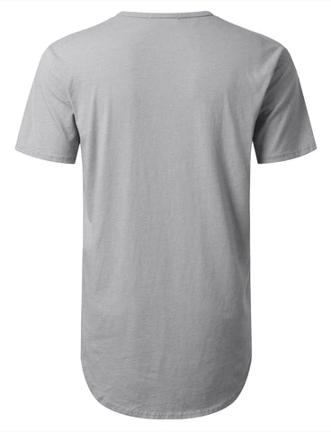 Basic Poly Cotton Longline T-shirt