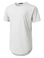 IVORY Basic Poly Cotton Longline T-shirt - URBANCREWS