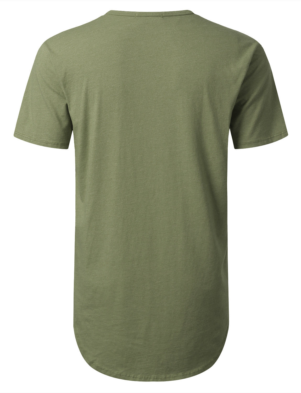 OLIVE Basic Poly Cotton Longline T-shirt - URBANCREWS