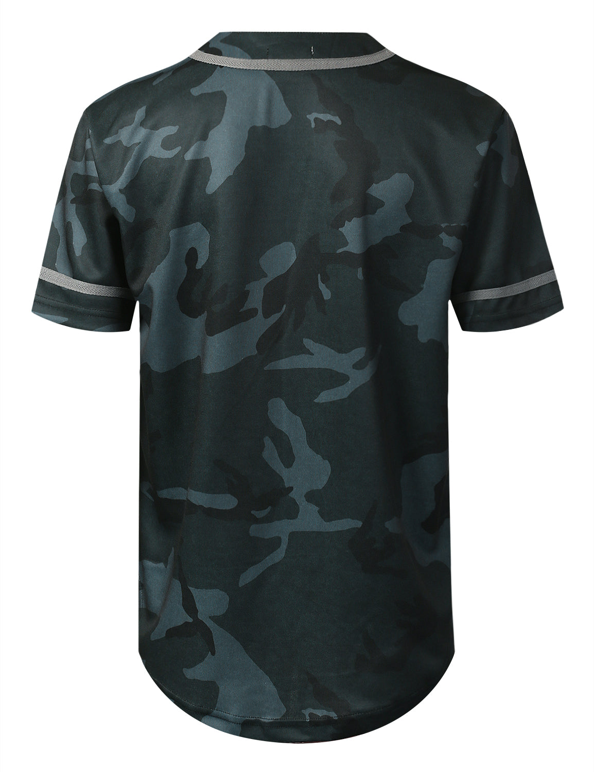 BLACK Camo Baseball Jersey T-shirt - URBANCREWS
