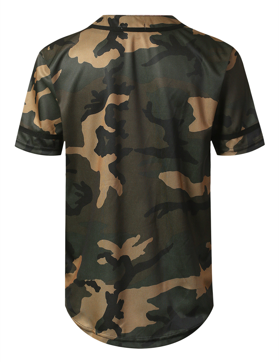 GREEN Camo Baseball Jersey T-shirt - URBANCREWS