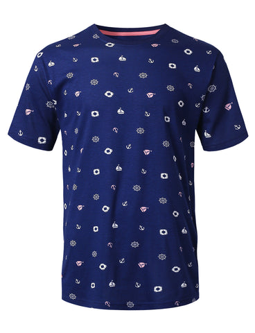 Nautical Printed Knit T-shirt