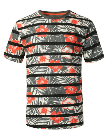 Hawaii Stripe Printed Knit T-shirt