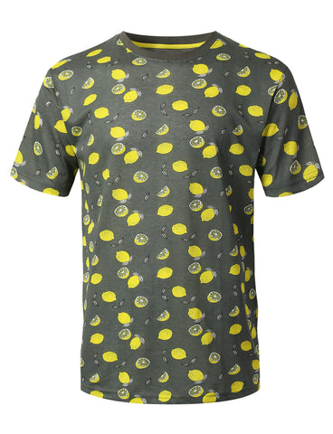 Lemon Printed Knit T-shirt