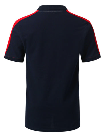 Half and Half Colorblock Polo T-shirt
