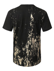 BLACK Gold Grunge Printed T-shirt - URBANCREWS