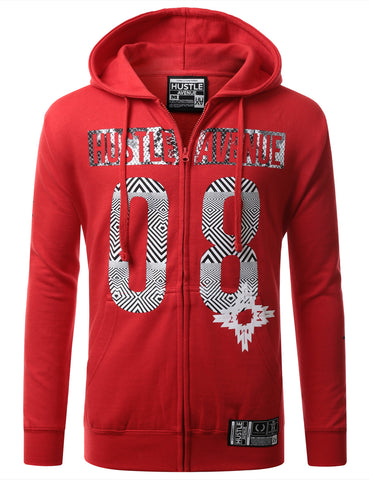 Hip Hop 08 Graphic Zip-Up Hoodie Jacket
