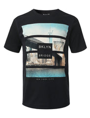 BLACK NY Saturation Graphic Print T-shirt - URBANCREWS