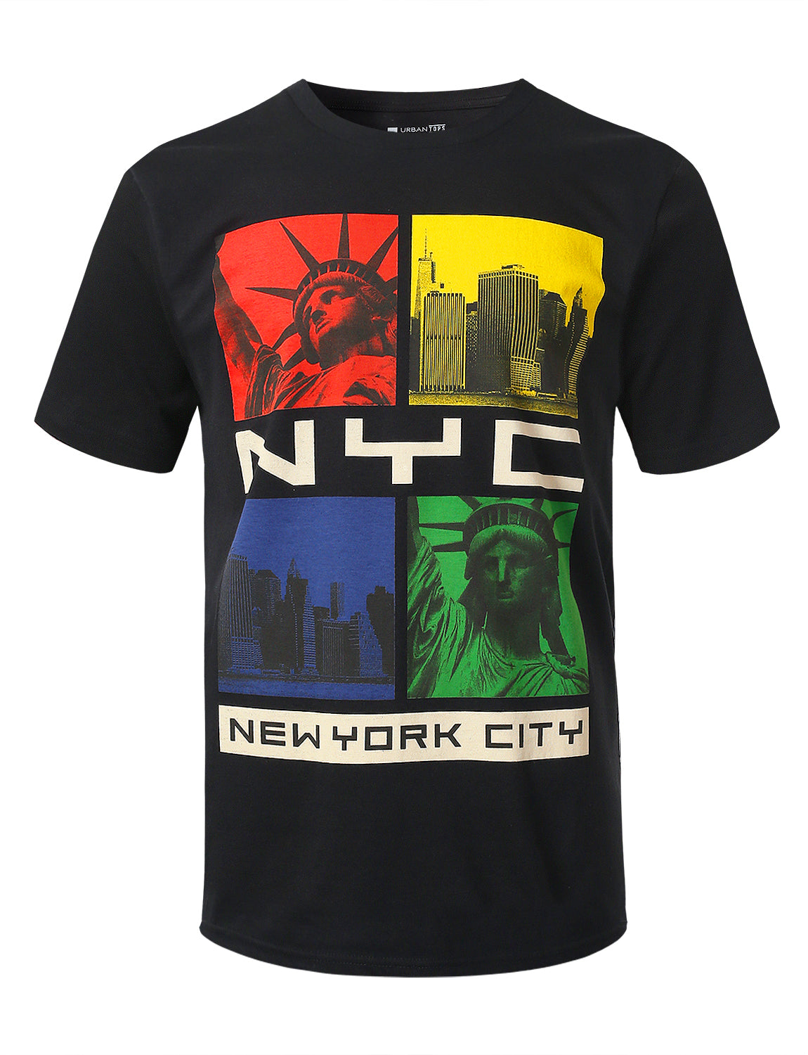 BLACK NYC Colorway Graphic Print T-shirt - URBANCREWS