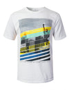 WHITE Faded City Graphic Print T-shirt - URBANCREWS