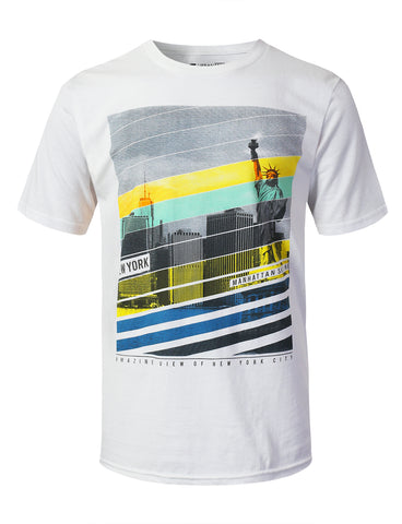 Faded City Graphic Print T-shirt