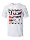 WHITE NYC Statue Graphic Print T-shirt - URBANCREWS