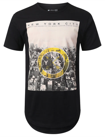 City View Print Longline T-shirt