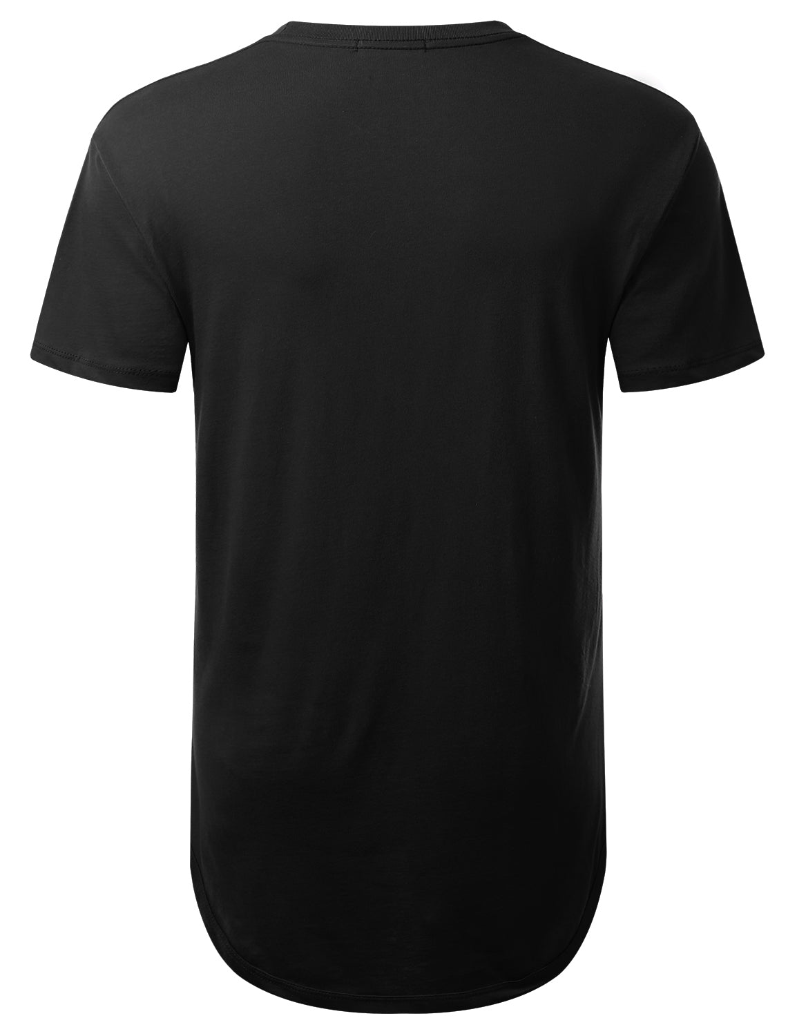 BLACK City View Print Longline T-shirt - URBANCREWS
