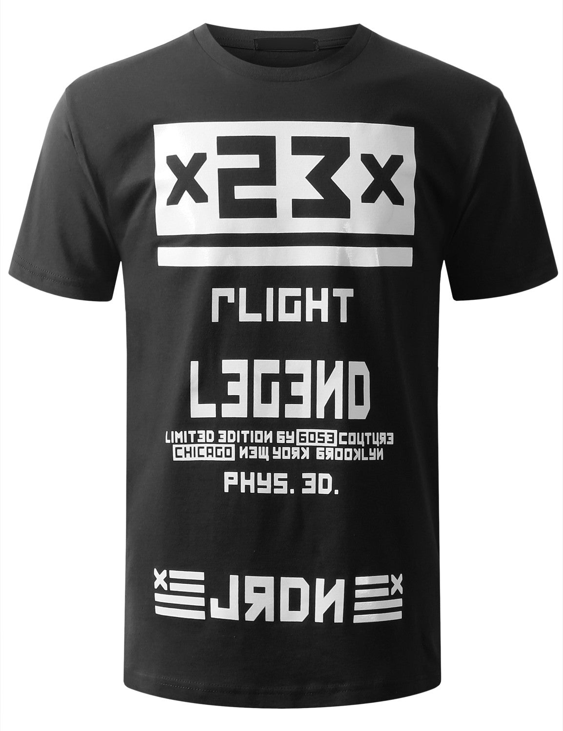 BLACK URBANCREWS Legend Printed Crewneck Tshirts