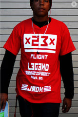 RED URBANCREWS Legend Printed Crewneck Tshirts