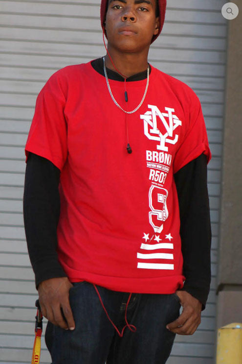 RED URBANCREWS Bronx 9 Crewneck Tshirts