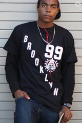 BLACK URBANCREWS Brooklyn 99 Crewneck Tshirts
