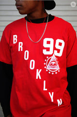RED URBANCREWS Brooklyn 99 Crewneck Tshirts