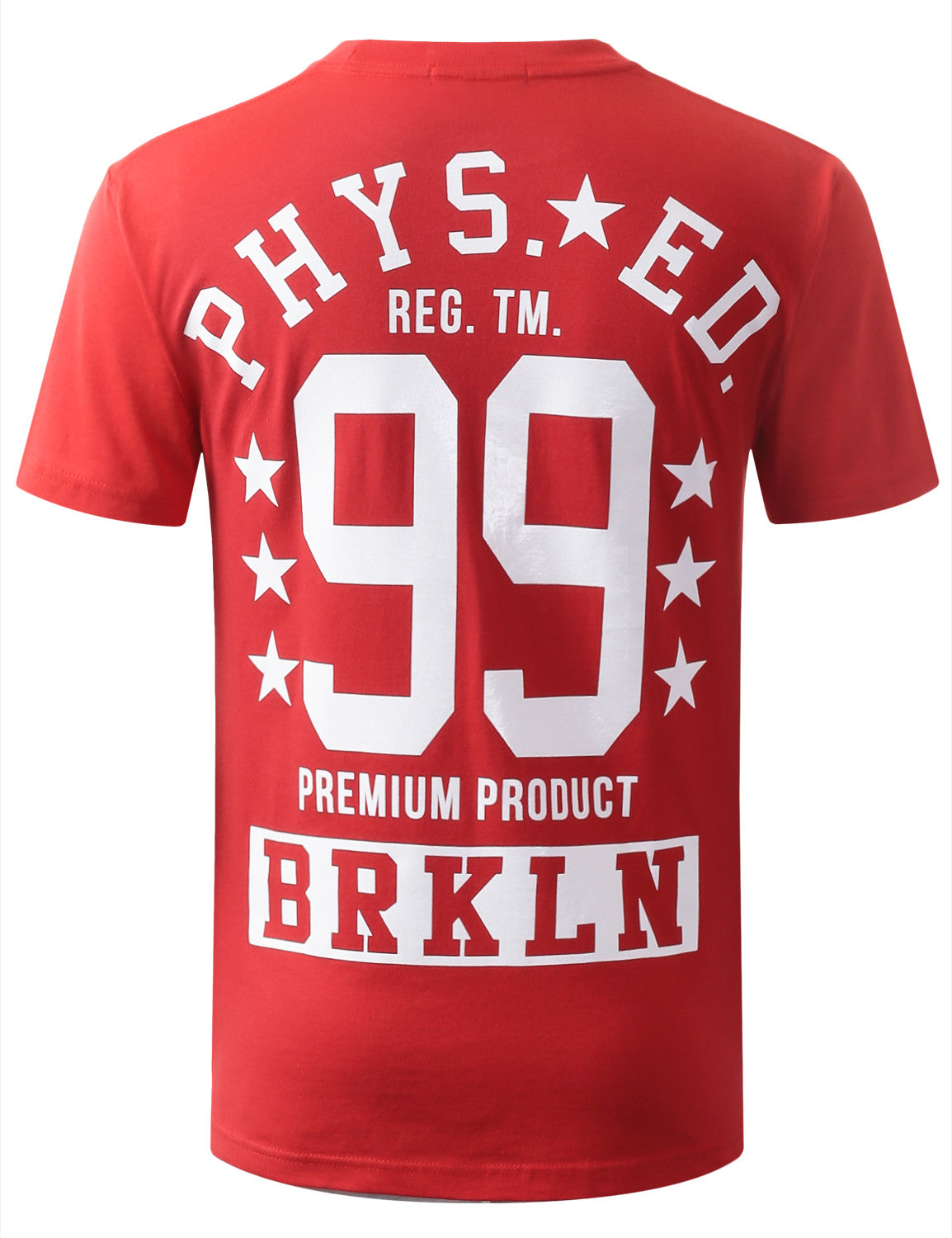 RED URBANCREWS Phys Ed Crewneck Tshirts