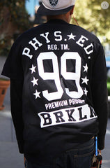 BLACK URBANCREWS Phys Ed Crewneck Tshirts