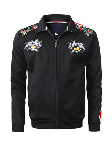 Tiger Eyes Zip-Up Track Jacket