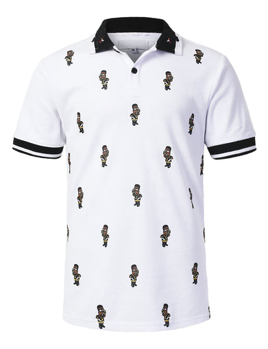 Character Silk Printed Polo T-shirt