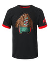 BLACK Bear Patch Graphic T-shirt - URBANCREWS