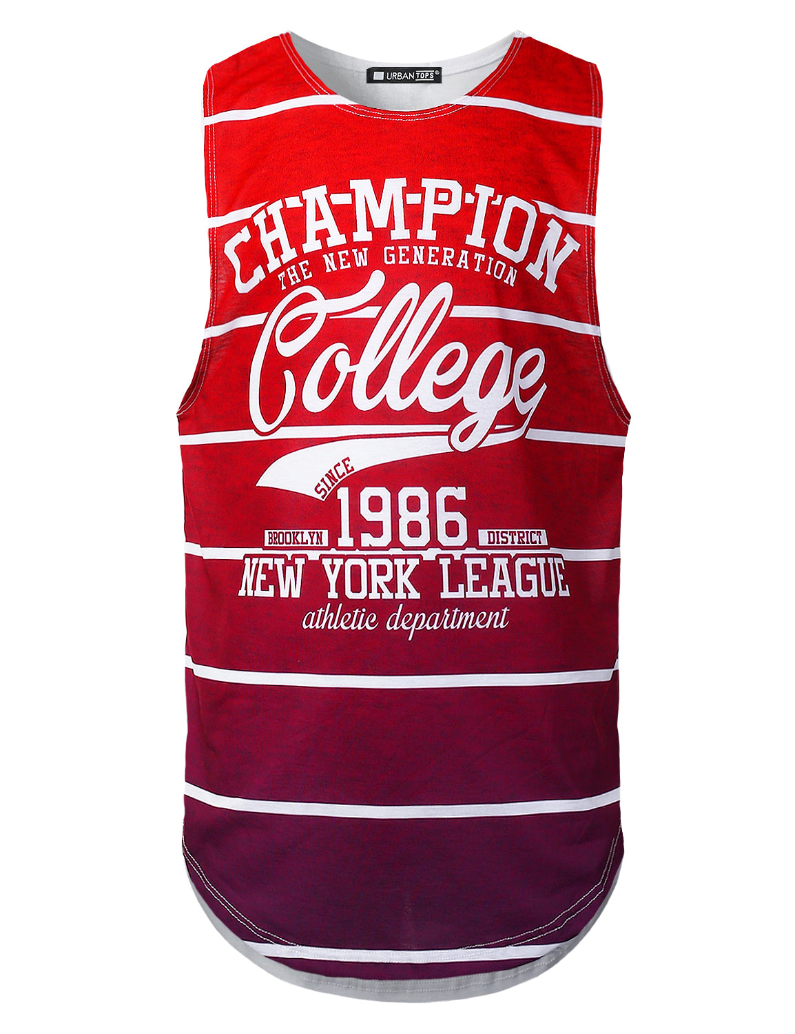 WHITE Varsity Graphic Muscle Tank Tops College Champion