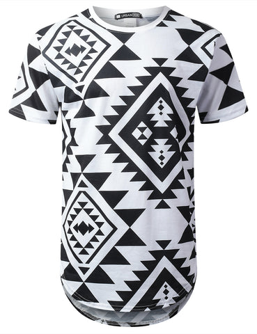 All Aztec Graphic Longline T-shirt