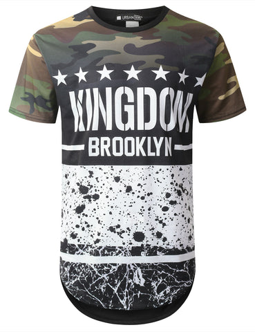 Kingdom Camo Graphic Longline T-shirt