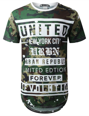 United Camo Graphic Longline T-shirt