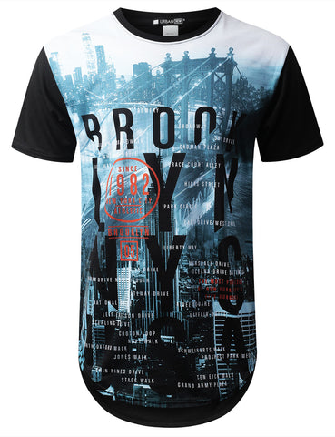New York Brooklyn Longline T-shirt