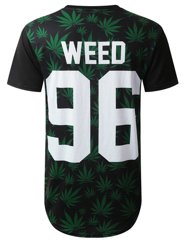 Inhale 96 Weed Longline T-shirt