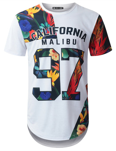 Cali 97 Tropical Longline T-shirt