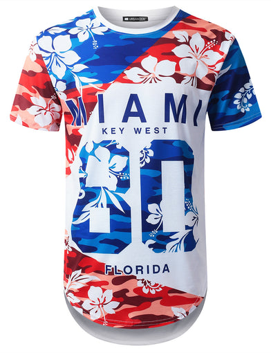 Miami 80 Tropical Longline T-shirt