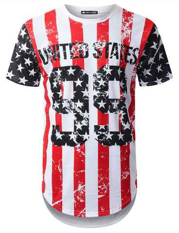 USA Flag 99 Longline T-shirt