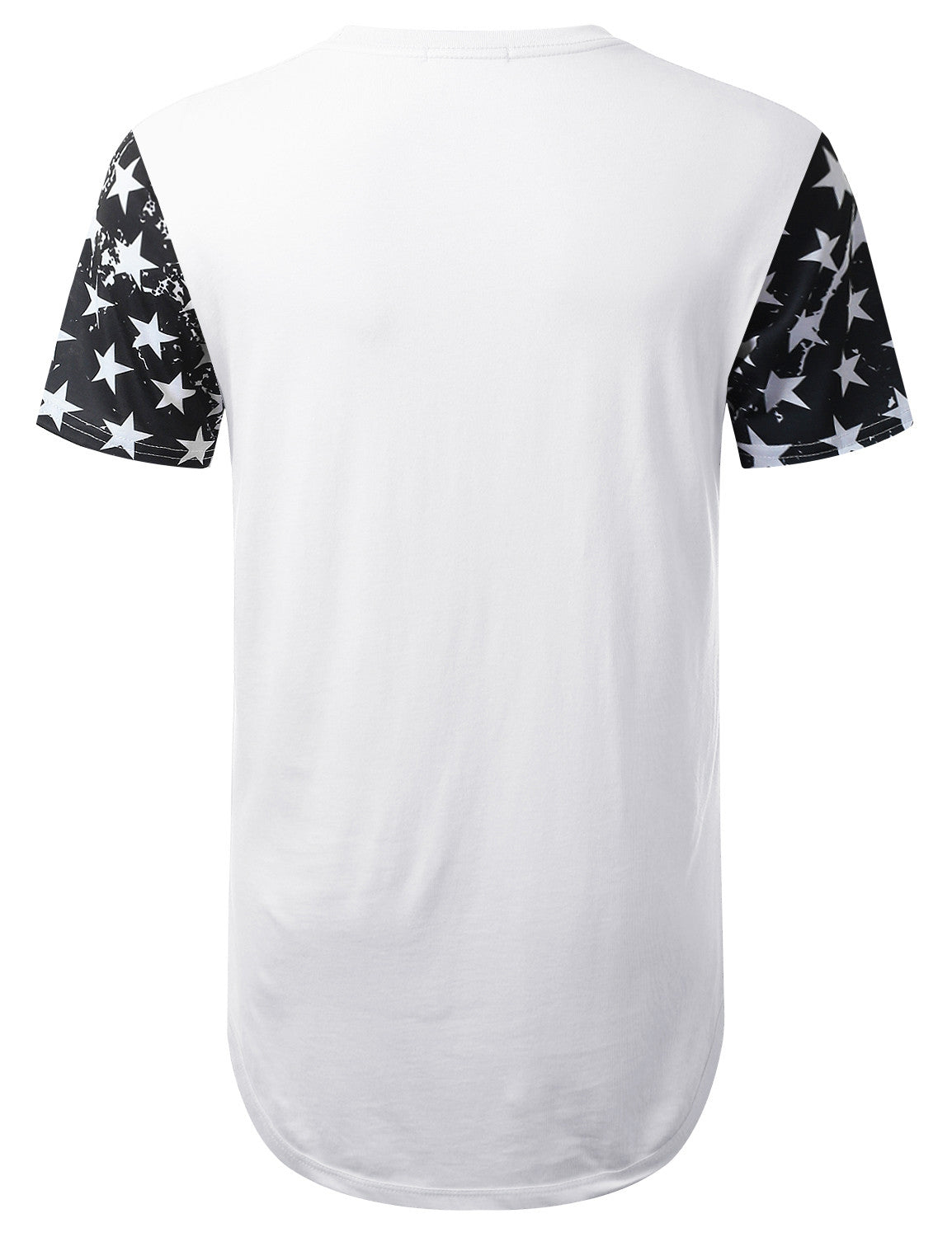 WHITE USA Flag 99 Longline T-shirt - URBANCREWS