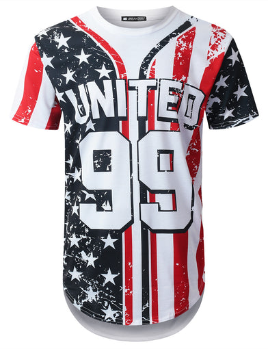 United 99 USA Flag Longline T-shirt