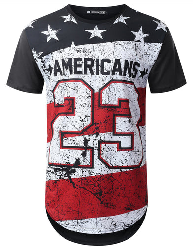Faded Flag 23 Longline T-shirt