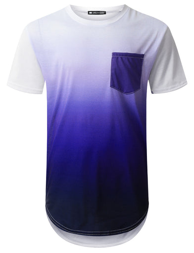 Purple Graphic Pocket Longline T-shirt