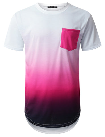 Pink Pocket Longline T-shirt